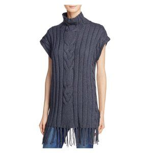 525 America Cable Knit Sweater w/ fringe size M/L